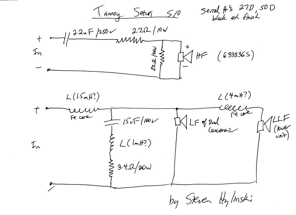Tannoy s10 crossover schematic needed page 2 diyaudio i own a pair of saturn s10s that have the drivers dated 051998 my crossover diagram varied slightly from the one noyen made here is mine publicscrutiny Gallery